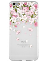 baratos -Capinha Para Apple iPhone 8 / iPhone 8 Plus / iPhone 7 Com Relevo / Estampada Capa traseira Desenho Animado / Flor Macia TPU para iPhone 8 Plus / iPhone 8 / iPhone 7 Plus