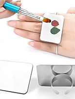 1pc Nail Stainless Steel Finger Ring Palette Professional Pigment UV Gel Polish Painting Drawing Color Mixing Dish Manicure Tool
