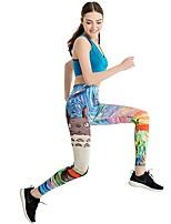 Недорогие -Женский Лосины для бега Велоспорт Фитнес, бег и йога Брюки Йога Бег Пилатес Велосипеды для активного отдыха Полиэстер Облегающие Синий