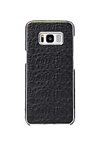 cheap -Case For Samsung Galaxy S8 Plus S8 Plating Back Cover Solid Color Hard Genuine Leather for S8 Plus S8