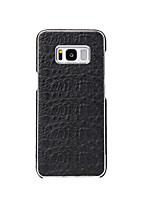abordables -Coque Pour Samsung Galaxy S8 Plus S8 Plaqué Coque Arrière Couleur unie Dur Vrai Cuir pour S8 Plus S8