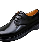 cheap -Men's Shoes PU Spring Fall Comfort Oxfords for Office & Career Black