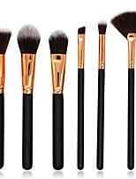 6 pcs Makeup Brush Set Blush Brush Eyeshadow Brush Lip Brush Powder Brush Foundation Brush Nylon Synthetic Hair Full Coverage Wood Face
