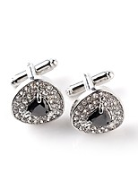cheap -Drop Black White Cufflinks Crystal Imitation Diamond Alloy Formal Classic Fashion Daily Formal Men's Costume Jewelry