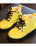 cheap -Girls' Shoes Patent Leather Leatherette Winter Fall Comfort Fashion Boots Boots Walking Shoes Booties/Ankle Boots Lace-up for Casual