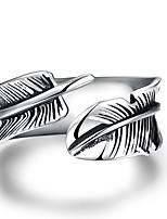 cheap -Men's Cuff Ring Vintage Steel Feather Jewelry Gift Daily