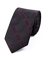 cheap -Men's Polyester Necktie,Casual Striped All Seasons Wine