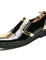 cheap -Men's Shoes Rubber Spring Fall Comfort Loafers & Slip-Ons Walking Shoes Booties/Ankle Boots Ribbon Tie for Outdoor Silver Black Gold