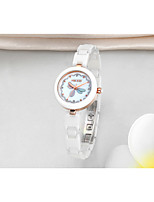 cheap -Women's Casual Watch Fashion Watch Wrist watch Chinese Quartz Water Resistant / Water Proof Ceramic Band Sparkle Casual Elegant White