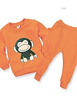 cheap -Girls' Cartoon Clothing Set,Silk Winter Green Orange