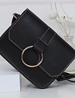 cheap -Women Bags PU Polyester Shoulder Bag Buttons Zipper for Casual All Season Army Green Gray Black