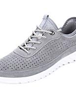 Недорогие -Для мужчин обувь Свиная кожа Весна Осень Удобная обувь Кеды для Повседневные Серый Синий