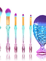 cheap -6 pcs Makeup Brush Set Blush Brush Eyeshadow Brush Lip Brush Powder Brush Foundation Brush Nylon Synthetic Hair Eco-friendly Soft Full