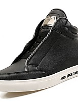 Недорогие -Для мужчин обувь Искусственное волокно Зима Светодиодные подошвы Кеды для Повседневные Белый Черный