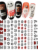 cheap -5 Nail Decals Christmas Nail Sticker Multi-colored Multicolor Nail Art Design Decoration