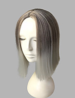 cheap -Women Synthetic Wig Short Kinky Straight Grey Natural Hairline Layered Haircut Party Wig Celebrity Wig Cosplay Wig Natural Wigs Costume