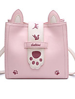 cheap -Women Bags PU Shoulder Bag Buttons Pattern / Print Zipper for Casual All Season Blushing Pink