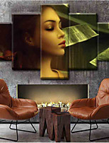 cheap -Canvas Set Classic,Five Panels Canvas Vertical Panoramic Print Wall Decor Home Decoration
