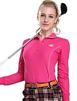 economico -Per donna Manica lunga Golf T-shirt Felpa Allenamento Traspirabilità Golf