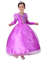 cheap -Princess Fairytale One Piece Dress Kid Christmas Birthday Masquerade Festival / Holiday Halloween Costumes Purple Color Block