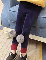 cheap -Girls' Solid Pants Winter Fall Cute Royal Blue Black