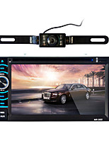 cheap -362 6.2 inch 2 Din Auto Car DVD Mp5 Player Touch Screen Remote Control FM Audio Stereo Bluetooth Hands free call Auto Video