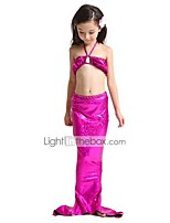 cheap -The Little Mermaid Swimwear Bikini Kid Christmas Masquerade Festival / Holiday Halloween Costumes Fuschia Green Purple Blue Solid