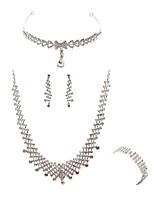 abordables -Mujer Joyería Para la Frente Los sistemas nupciales de la joyería Cristal Europeo Moda Boda Fiesta Diamante Sintético Legierung Joyería