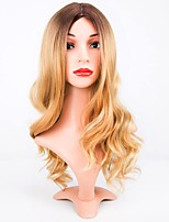 Women Synthetic Wig Long Natural Wave Blonde Middle Part Layered Haircut Natural Wigs Costume Wig
