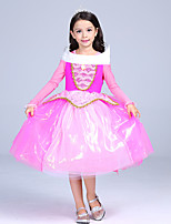 cheap -Princess Fairytale One Piece Dress Kid Christmas Birthday Masquerade Festival / Holiday Halloween Costumes Pink Color Block
