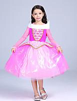 abordables -Princesas Cuento de Hadas Una Sola Pieza Vestidos Niño Navidad Cumpleaños Mascarada Festival / Celebración Disfraces de Halloween Rosado