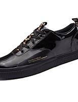 Недорогие -Для мужчин обувь Резина Весна Осень Удобная обувь Кеды Ленты для Золотой Черный Серебряный