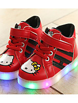 cheap -Boys' Shoes PU Winter Fall Comfort Sneakers Walking Shoes Magic Tape for Casual White Red Pink