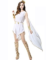 cheap -Athena Goddess Ancient Greek Ancient Rome Costume Women's Skirt White Vintage Cosplay Polyster Sleeveless Knee Length