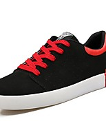 cheap -Men's Shoes Suede Spring Fall Comfort Sneakers for Casual Black/Red Black/White Black