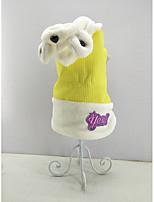 abordables -Chat Chien Combinaison-pantalon Vêtements pour Chien Décontracté / Quotidien Garder au chaud Animal Jaune Costume Pour les animaux