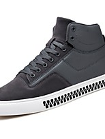 cheap -Men's Shoes PU Pigskin Winter Fall Comfort Sneakers for Casual Red Gray Black