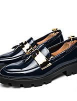 cheap -Men's Shoes Synthetic Microfiber PU Spring Fall Driving Shoes Formal Shoes Loafers & Slip-Ons for Casual Party & Evening Blue Black White