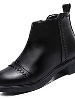 cheap -Women's Shoes PU Winter Fall Comfort Combat Boots Boots Chunky Heel Round Toe Booties/Ankle Boots for Casual Black