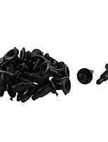 Недорогие -20 шт. 11мм х 5мм черная пластиковая заклепка бамперная подкладка с подкладкой фиксатора
