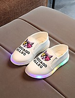 cheap -Girls' Shoes Leatherette Spring Fall Comfort Loafers & Slip-Ons for Casual Pink Peach Black White