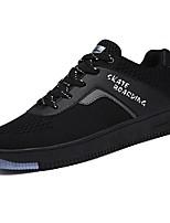 Недорогие -Для мужчин обувь Тюль Весна Осень Удобная обувь Кеды для Повседневные Черный Серый Красный
