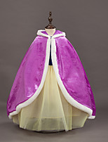 cheap -Princess Fairytale Elsa Cloak Kid Christmas Birthday Masquerade Festival / Holiday Halloween Costumes Purple Red Color Block