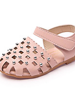 cheap -Girls' Shoes Leatherette Winter Fall Comfort Sandals Walking Shoes Rivet for Casual Beige Gray Pink