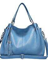 cheap -Women Bags PU Shoulder Bag Zipper Tassel for Casual All Season Fuchsia Yellow Orange Black Blue