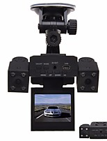 cheap -H3000 Car DVR with 8 LED IR Night Vision Dual Cameras 2.0 inch TFT LCD Rotary Screen and Rotary Lens Car Black Box Car Recorder