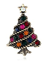 cheap -Women's Brooches Rhinestone Bohemian Basic European Alloy Tree of Life Jewelry For Christmas