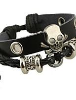 cheap -Men's Women's Bracelet , Rock Gothic Leather Alloy Skull Jewelry Daily