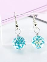 preiswerte -Damen Tropfen-Ohrringe Süß lieblich Glas Aleación Blume Schmuck Party Alltag