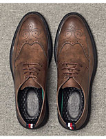 cheap -Men's Shoes Cowhide Spring Fall Comfort Oxfords for Casual Brown Gray Black